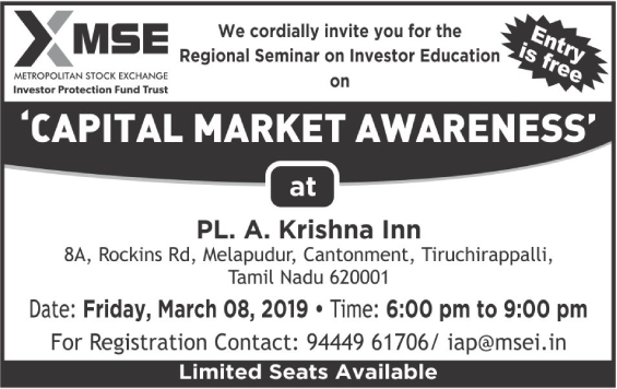 INVESTOR AWARENESS PROGRAMMES